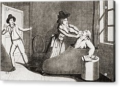 The Murder Of Marat At The Hands Acrylic Print