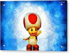 The Mushroom 56 - Pa Acrylic Print by Leonardo Digenio