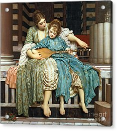 The Music Lesson Acrylic Print by Frederic Leighton