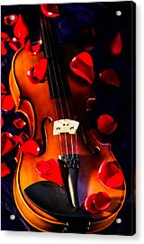 The Musical Rose Petals Acrylic Print