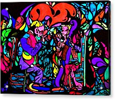 Acrylic Print featuring the painting The Musicians by YoMamaBird Rhonda