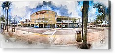 The Myrtle Beach Pavilion - Watercolor Acrylic Print