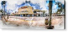 The Myrtle Beach Pavilion - Watercolor Acrylic Print