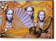 Acrylic Print featuring the mixed media The Mystery by Gail Kirtz