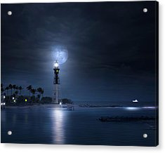 The Mystery Of Lighthouse Cove Acrylic Print