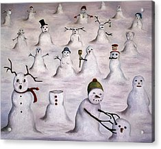 The Mystery Revealed On Snowman Hill Acrylic Print