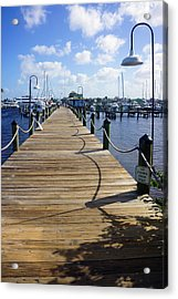 The Naples City Dock Acrylic Print