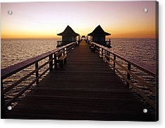 The Naples Pier At Twilight - 01 Acrylic Print