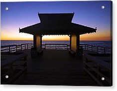 The Naples Pier At Twilight - 02 Acrylic Print