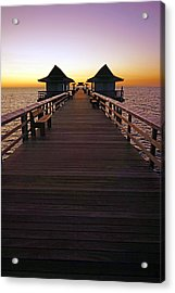 The Naples Pier At Twilight Acrylic Print
