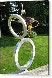 Acrylic Print featuring the sculpture The Narcissist by Tony Murray
