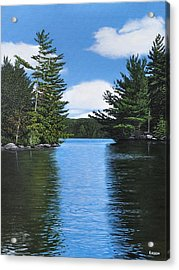 The Narrows Of Muskoka Acrylic Print