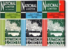 The National Limited Collage Acrylic Print