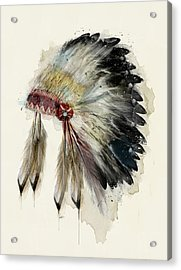 The Native Headdress Acrylic Print by Bri B