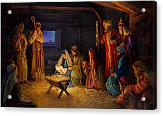 The Nativity Acrylic Print by Greg Olsen
