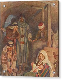 The Nativity Acrylic Print by Harold Copping