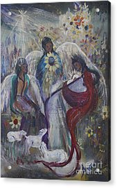 The Nativity Of The Angels Acrylic Print by Avonelle Kelsey