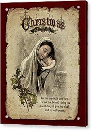 The Nativity Acrylic Print by Ray Downing