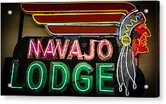 The Navajo Lodge Sign In Prescott Arizona Acrylic Print