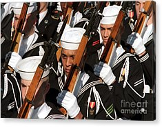 The Navy Ceremonial Honor Guard Acrylic Print by Stocktrek Images