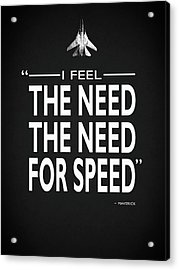 The Need For Speed Acrylic Print