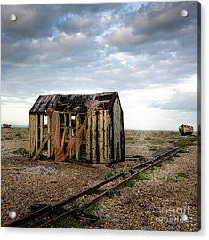 The Net Shack, Dungeness Beach Acrylic Print