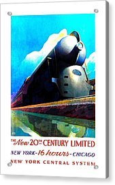 The New 20th Century Limited New York Central System 1939 Leslie Ragan Acrylic Print