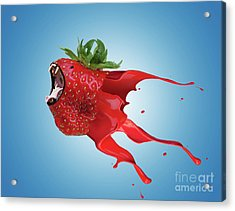 Acrylic Print featuring the photograph The New Gmo Strawberry by Juli Scalzi