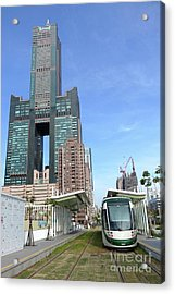 Acrylic Print featuring the photograph The New Kaohsiung Light Rail Train by Yali Shi