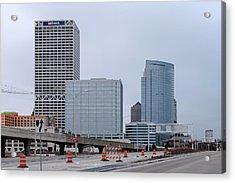The New Milwaukee Skyline Acrylic Print by Randy Scherkenbach