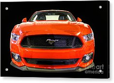 The New Mustang Acrylic Print by Vicki Spindler