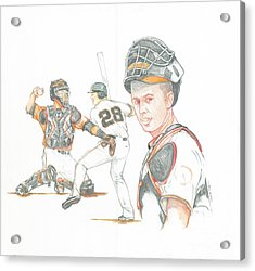 The New Natural Buster Posey Acrylic Print by Phil  King