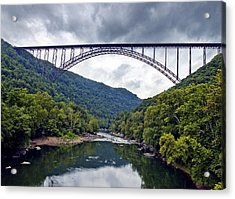 The New River Gorge Bridge In West Virginia Acrylic Print by Brendan Reals