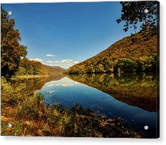 The New River In Autumn Acrylic Print by L O C