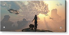 The New World Acrylic Print by Mary Almond