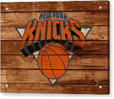 The New York Knicks 3b                        Acrylic Print by Brian Reaves