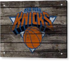The New York Knicks 3e                        Acrylic Print by Brian Reaves