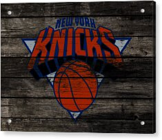 The New York Knicks 3f                       Acrylic Print by Brian Reaves