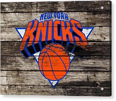 The New York Knicks 3h                       Acrylic Print by Brian Reaves