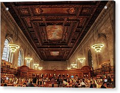 Acrylic Print featuring the photograph The New York Public Library by Jessica Jenney