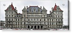 Acrylic Print featuring the photograph The New York State Capitol In Albany New York by Brendan Reals