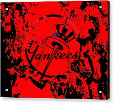 The New York Yankees 1a Acrylic Print by Brian Reaves