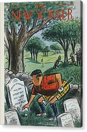 The New Yorker Cover - August 22nd, 1959 Acrylic Print