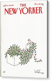 The New Yorker Cover - December 14th, 1981 Acrylic Print
