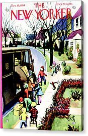 The New Yorker Cover - December 19th, 1953 Acrylic Print