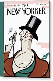 The New Yorker Cover - February 21st, 1925 Acrylic Print