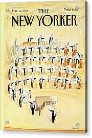 The New Yorker Cover - March 12th, 1984 Acrylic Print