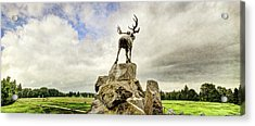 The Newfoundland Caribou Above The Trenches Acrylic Print by Weston Westmoreland