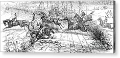 The Newport Pagnel Steeple Chase Acrylic Print by John Frederick Herring Snr