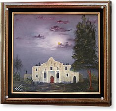 Acrylic Print featuring the painting The Night Before by Al Johannessen